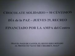 chocolate solidario!!!